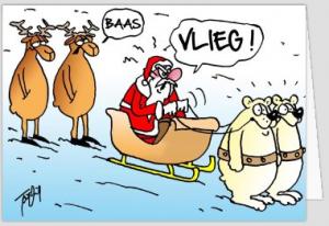 grappige kerstkaarten - boze kerstman